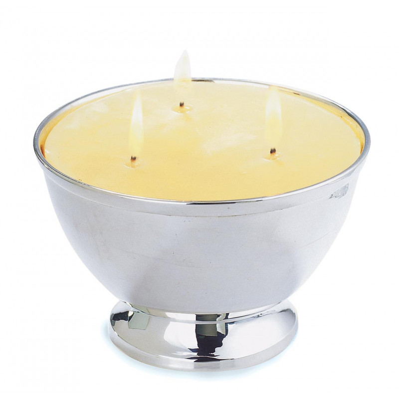 Polished Shaped Bowl With Lid 3 Wick Candle