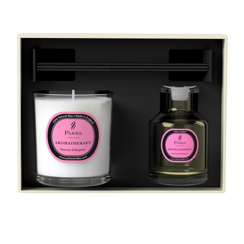 Rosemary & Bergamot Candle & Diffuser Set