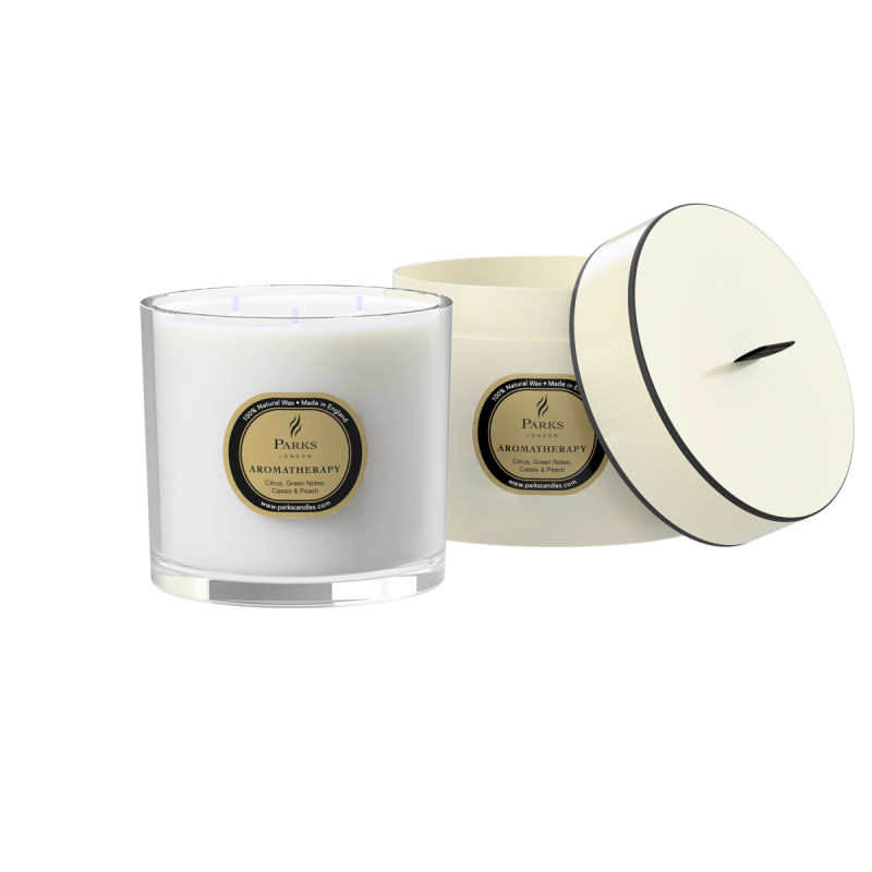Citrus, Green notes, Cassis and Peach 3 Wick Candle