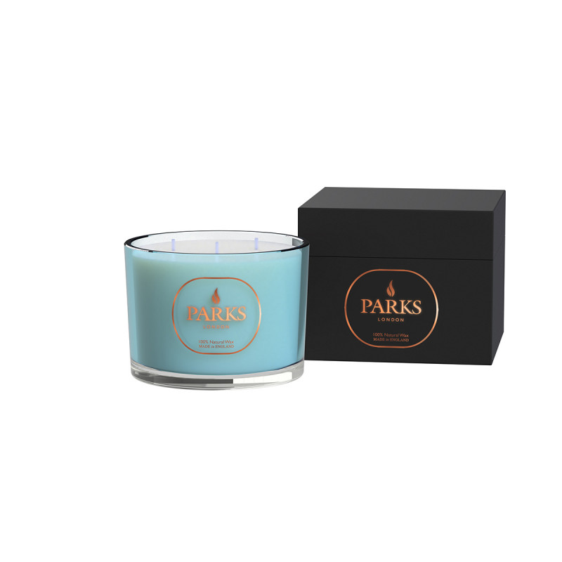 Special Edition 3 Wick Candle Turquoise