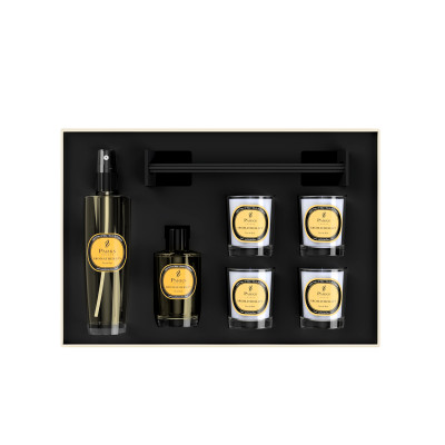 Luxury Gift Set Feu De Bois 4 Votive Candles, Diffuser & Room Spray