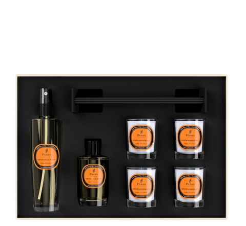 Luxury Gift Set Amber, Citrus & Amara 4 Votive Candles, Diffuser & Room Spray