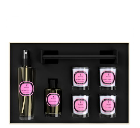 Luxury Gift Set Rosemary & Bergamot 4 Votive Candles, Diffuser & Room Spray