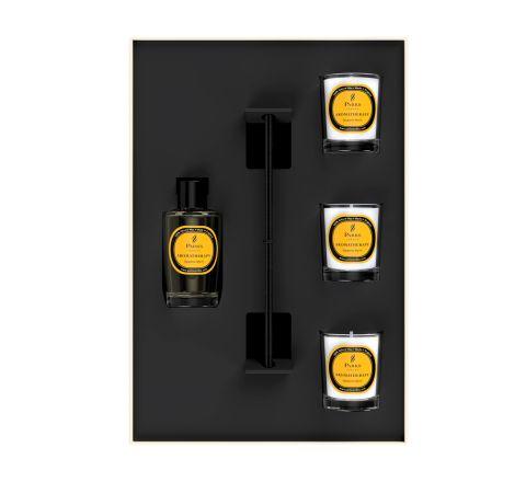 Premium Gift Set Myrrh 3 Votive Candles & Diffuser