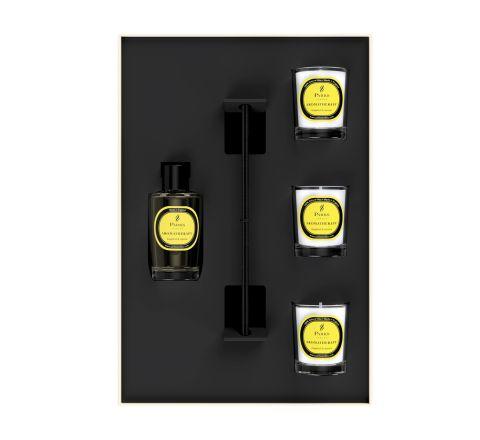 Premium Gift Set Grapefruit & Jasmine 3 Votive Candles & Diffuser