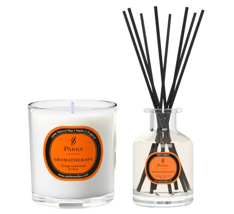 Orange, Cedarwood & Clove Candle & Diffuser Set