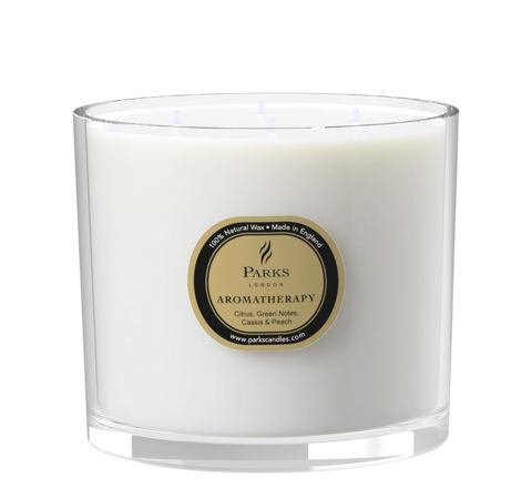Citrus, Green Notes, Peach & Cassis 4 Wick Candle