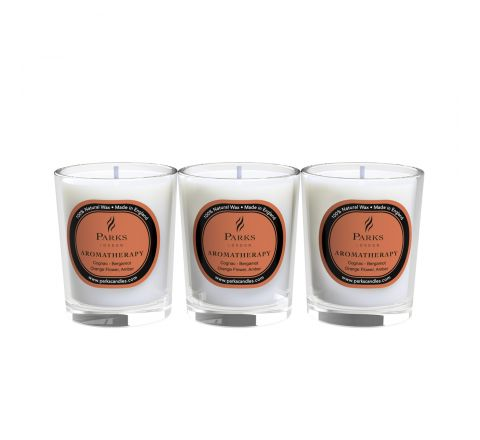 Cognac Candle 3 Votive Gift Set