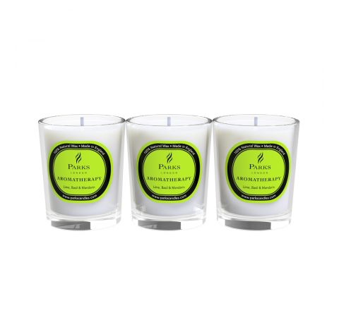 Lime, Basil & Mandarin 3 Votive Gift Set