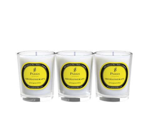 Lemongrass & Mint 3 Votive Gift Set