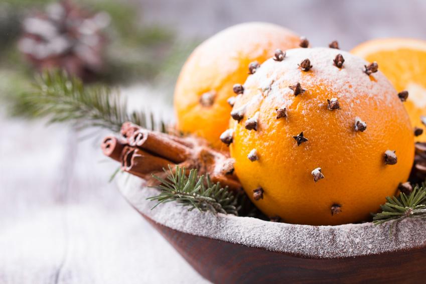 Orange pomanders